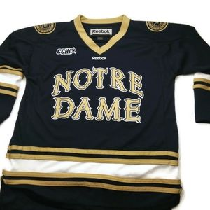 Reebok Notre Dame Hockey Jersey Youth Size L/XL
